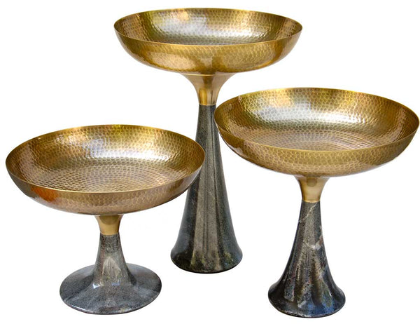 Brass and Marble 'Umaid Bowls' by AnanTaya Decor