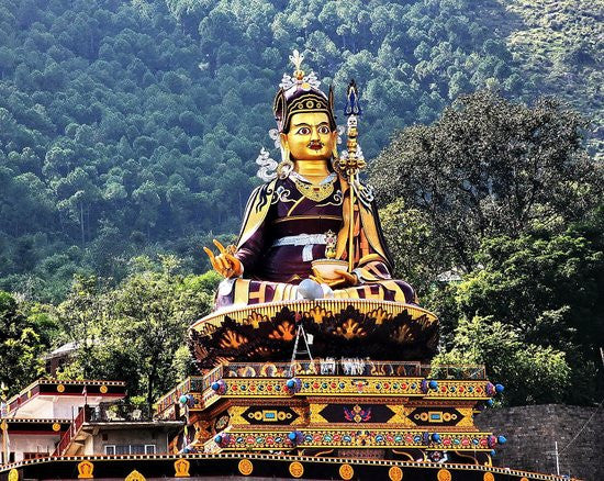 Statue of Padmasambhava in Himachal Pradesh, India