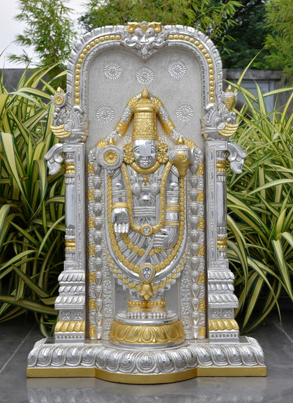 Tirupati Balaji (Venkateshwara) with Pure Gold Leaf