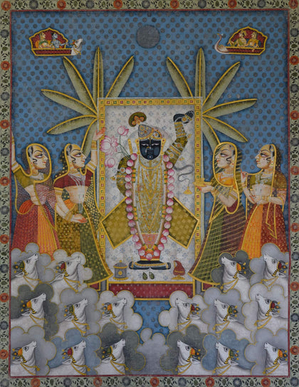 Shrinathji with Cows - XI