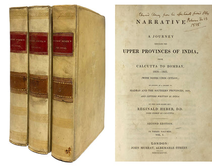 Bishop Heber's Narrative, Set of 3; 1828, Second Ed.
