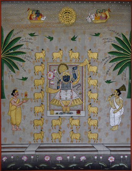 Shrinathji with Cows - XII