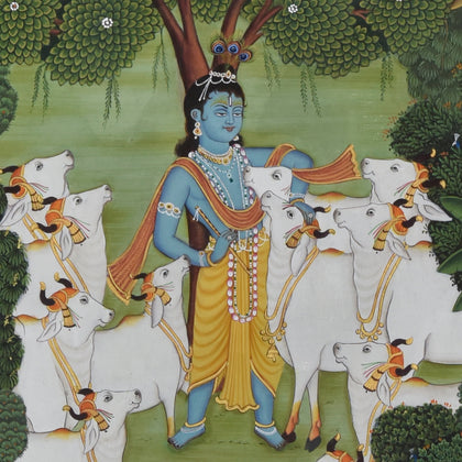 Krishna in Forest