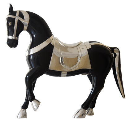 Semi Clad Trotting Horse - Black