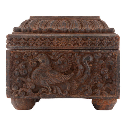 Carved Box with Hamsa