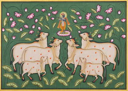 Shrinathji with Cows - IX