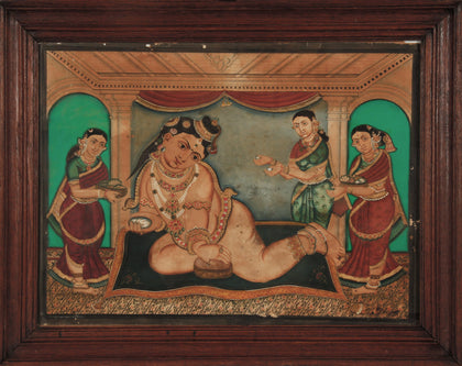 Bala Krishna with Yashoda and Attendants