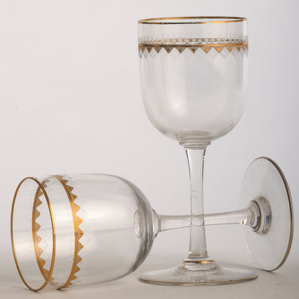 Italian Wine Glasses with Gold (Set of 4)