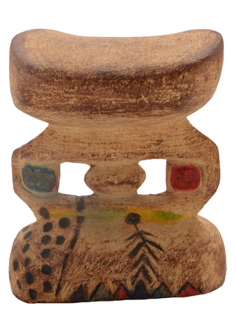 African Tribal Headrest 04