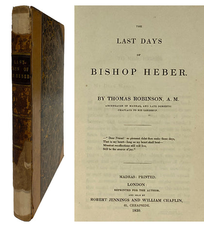 Last Days of Bishop Heber; 1830
