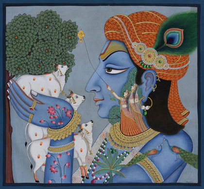 Krishna with Cows - I