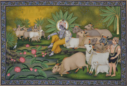 Krishna with Cows - VI