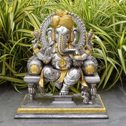 Pagdi Ganesha with Pure Gold Leaf