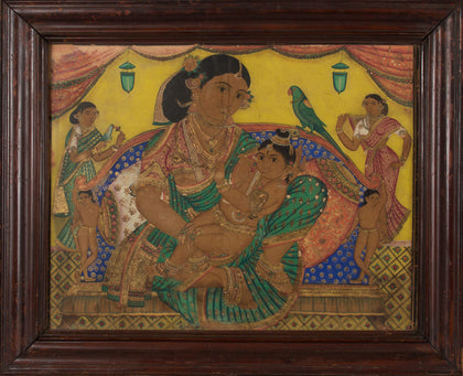 Krishna with Yashoda and Sakhis