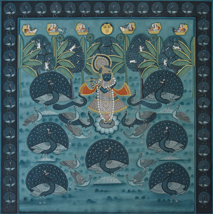 Shrinathji with Peacocks - II