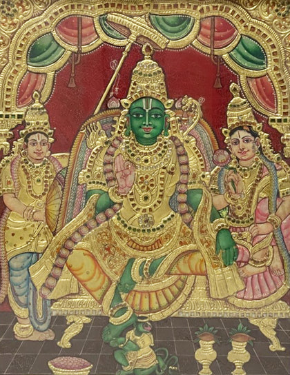 Rama with Sita, Lakshman and Hanuman