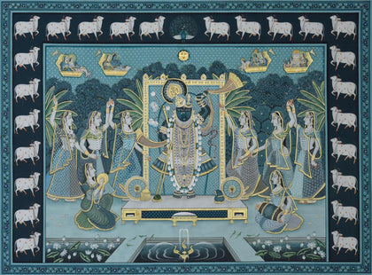 Shrinathji with Peacocks - III