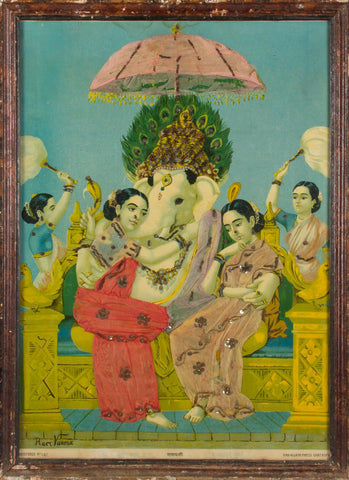 Ganesha with Consorts