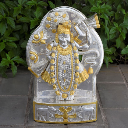 Shrinathji with Pure Gold Leaf