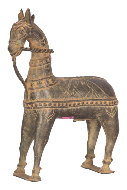 Horse With Carving