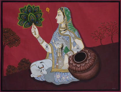 Lady with Mor Pankh