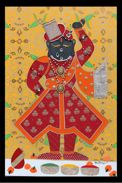 Shrinathji as a Groom,[product_collection],Pichwai S,Shan Bhatnagar - Artisera