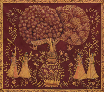 Gopis Under Tree