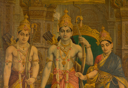 Lord Ram with Sita, Laxman and Hanuman