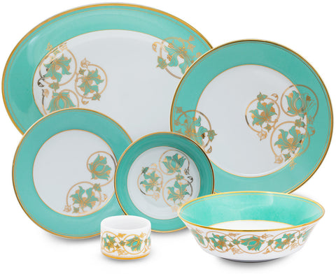 Spring in Udaipur 27 Piece Dinner Set,Nishita Fine Dinnerware, - Artisera