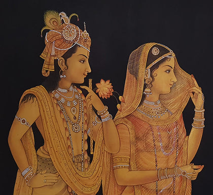 Radha Krishna With Cows - III
