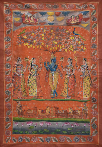 Krishna with Gopis Under Tree