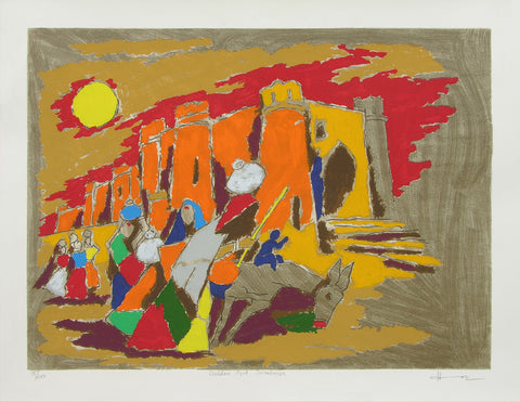 Golden Fort - Jaisalmer,[product_collection],Archer Art Gallery,M.F. Husain - Artisera