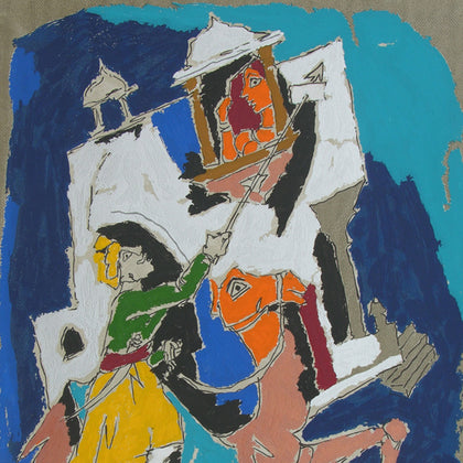 Folk Lore - Jaisalmer,[product_collection],Archer Art Gallery,M.F. Husain - Artisera