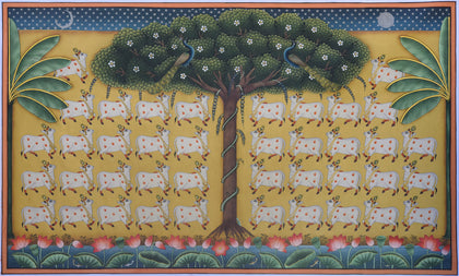 Group of Cows Under Tree - I