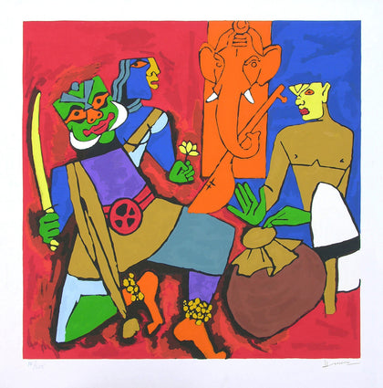 Kerala - I,[product_collection],Archer Art Gallery,M.F. Husain - Artisera