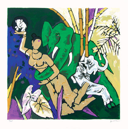 Kerala - III,[product_collection],Archer Art Gallery,M.F. Husain - Artisera