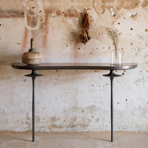 Console with Metal Legs