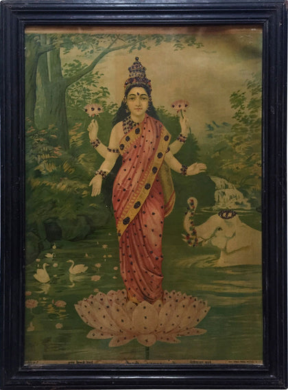 Gaja Lakshmi,[product_collection],Indian Arts Palace (AB),Raja Ravi Varma - Artisera