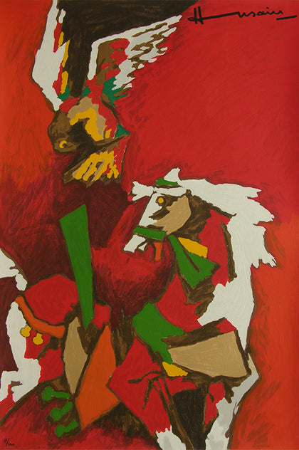 Horse (Appropriation),[product_collection],Archer Art Gallery,M.F. Husain - Artisera