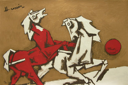 Horses - II,[product_collection],Archer Art Gallery,M.F. Husain - Artisera