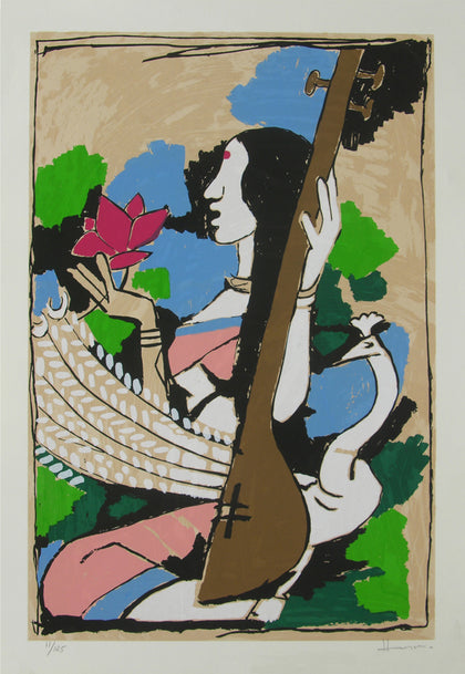 Saraswati,[product_collection],Archer Art Gallery,M.F. Husain - Artisera