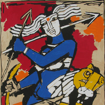 Durga,[product_collection],Archer Art Gallery,M.F. Husain - Artisera