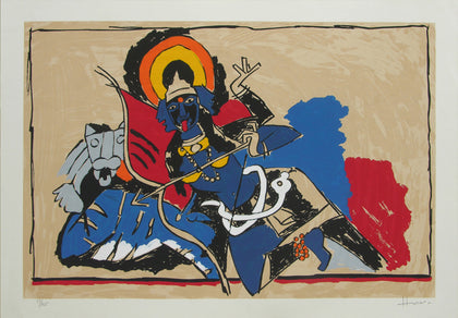 Kali,[product_collection],Archer Art Gallery,M.F. Husain - Artisera