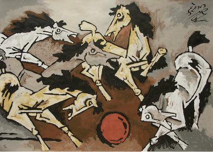 Horses - IV,[product_collection],Archer Art Gallery,M.F. Husain - Artisera