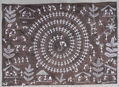 Warli - Untitled 19,[product_collection],Must Art,Ankush Kakuram Karmoda - Artisera