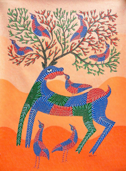 Gond - Untitled 01,[product_collection],Must Art,Anand Shyam - Artisera