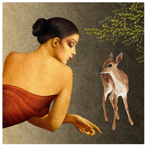 A Little Friend,[product_collection],Verandah Art,Amiya Bhattacharya - Artisera