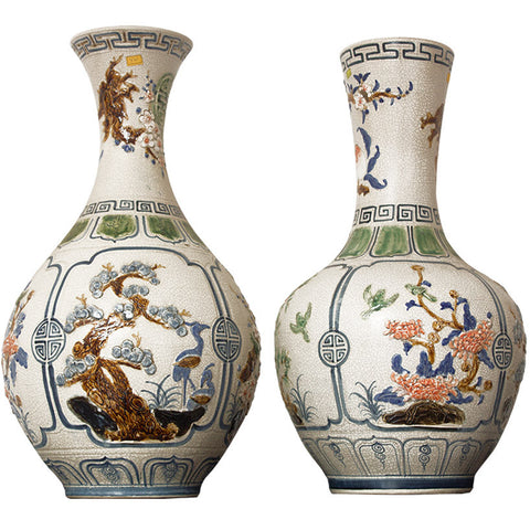 Hand-Painted Vietnamese Vase (Pair),[product_collection],Crafters, - Artisera