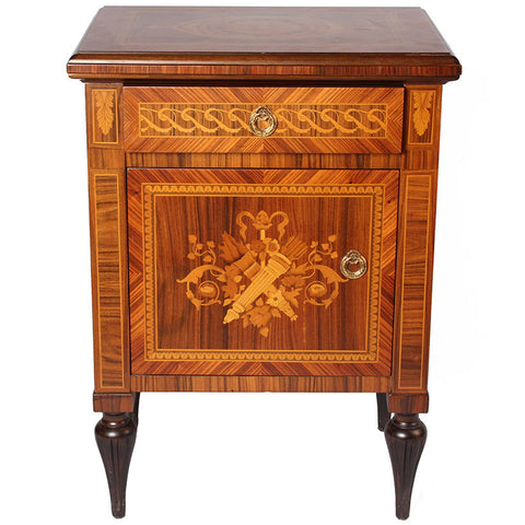 Bedside Cabinet with Carving,The Great Eastern Home, - Artisera