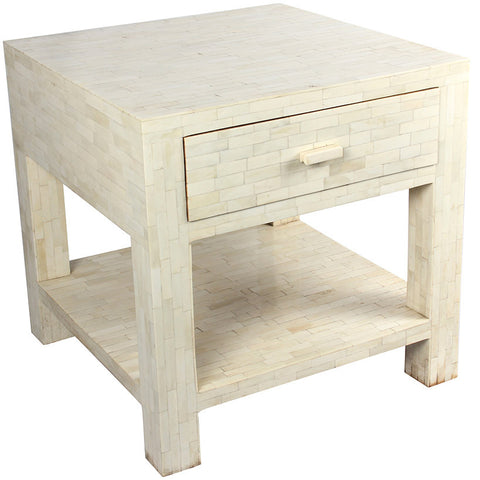 White Bedside Table,Essajees, - Artisera